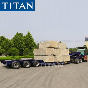 China Heavy Haul 3 Line 6 Axle 100 Ton Hydraulic Lowbed Truck for sale on sale