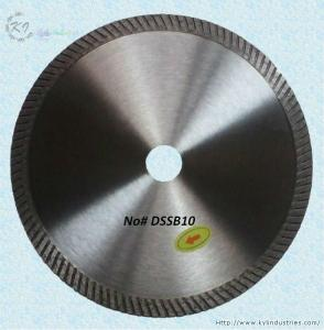 China Continuous Rim Diamond Turbo Blade - DSSB10 on sale