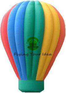 China Customized Color Inflatable Advertising Balloon With Air Balloon Shape For Trade Fair on sale