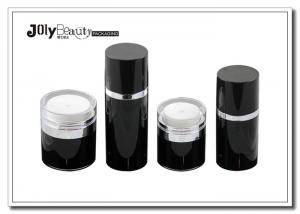 Quality 50ml Plastic Lotion Jars / Airless Pump Bottles For Classifying Thin Emulsion for sale