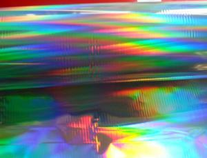 China High quality seamess Rainbow pattern PET Holographic metallized film of manufacturer on sale