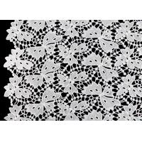 China Floral Schiffli Guipure Water Soluble Lace Fabric With Poly Milky Silk By SGS on sale