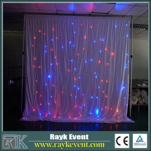 China Singapore factory star curtain light led event decorations for church led star curtain on sale