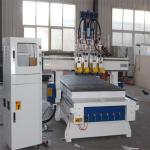 Double tool changer automatic cnc woodworking router machinery with drilling