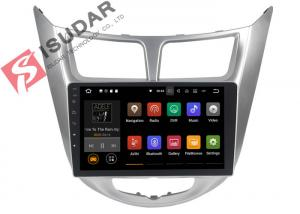 China USB DVR Video Input Android Auto Car Stereo For Hyunida Verna / Solaris / Accent 2011 on sale