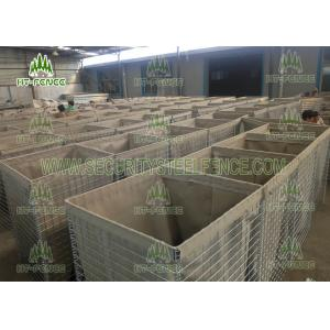 China Mil 7 Size Galvanized Gabion Box 4.0mm Wire For Defensive Firing Positions on sale