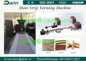 China Stanless Steel 304 type Pet Food Manufacturing Equipment , Meat Strip Processing Line on sale