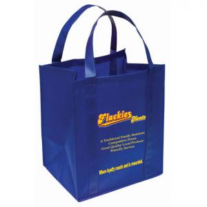 China Promotional recyclable silk screen non woven shopping bag with custom color and logo printing on sale
