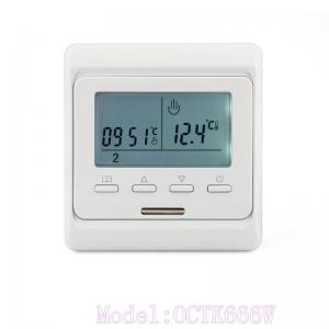 China ABS 7 Day Programmable Thermostat Digital Temperature Control and Floor Heating Thermostat on sale
