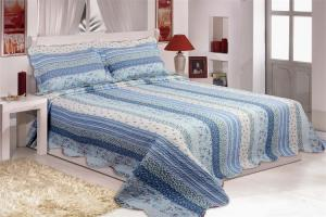 Quality Microfiber Printed Queen Size Bed Quilts , Optional Colors Bed Cover Sets for sale