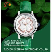 Four-leaved clover on the dial Lucky watch wrist ladies