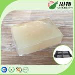Pressure Sensitive Industrial Hot Melt Glue , Milk Yellow Car Trim Adhesive Hot Melt