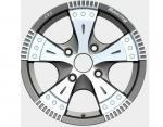 12 * furo 4,5 4 completamente pintado rodas da liga de 12 polegadas para o carro personalizado