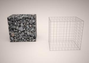 China Erosion Protection Gabion Wire Mesh Panels , Wire Cages For Rock Retaining Walls on sale