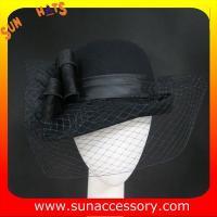 China 2320 Sun Accessory customized fashion winter wool felt  hats, bowknot sweatband women hats and caps wholesaling on sale