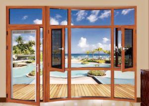 China Anti Typhoon Casement Aluminium Glass Door Thermal Insulation Anodizing on sale