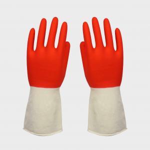 China 耐久の自然なクリーンルームは赤い乳液の手袋/頑丈な乳液の手袋を着色しました on sale