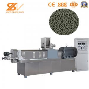 China 2 Screw Fish Pellet Feed Extruder / Fish Feed Extrusion Making Machine on sale