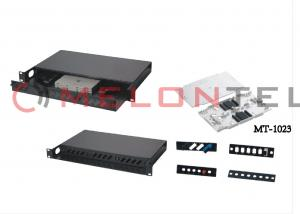 China Earth Mode Fiber Optic Patch Panel Rack Mount ODF With Theft - Proof Lock on sale