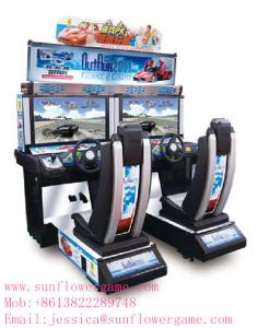 China arcade racing car game machine,simulator game machine on sale