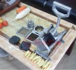 Ручной автомат для резки картошки резца картошки разделителя плода автомата для резки картофеля фри