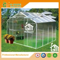 China Aluminum Greenhouse Manufacturer Traditional Series Aluminum/Polycarbonate Hobby Greenhouse - 8'x8'x6.7'FT on sale