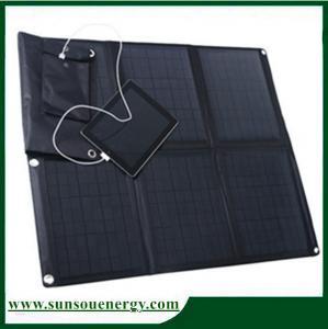 China High Eff. 60watt foldable solar panel kit, solar panel charger foldable for car / boat / golf cart on sale