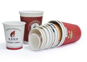 China Tea / Water White Paper Cups Anti Moisture Penetration Gloss Surface Finish on sale