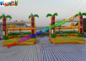 China Popular Palm Tree Commercial Bouncy Castles Inflatable Bouncer House 4m x 4m x 3.5m on sale