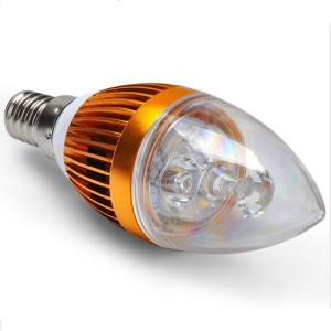 China E14 3W Dimmable Crystal LED Candle Light Bulb For Church , AC 85-265V 50 / 60Hz on sale