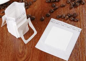 Narrow Single Serve Iced Coffee Filter Bag White Color With Food