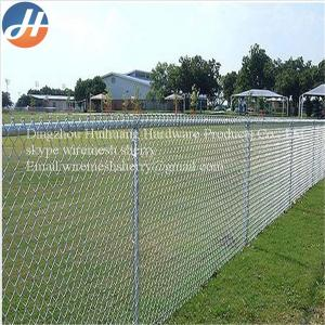 China Green, Black 1.8m Hight Low Carbon Steel Chain Link Wire Mesh Fence Fabric For Airport Fen on sale