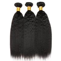 Natural Color 10 Inch 100 Indian Human Hair Weave For Lady Kinky Straight