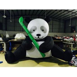 China Figurines gonflables de panda de produits de la publicité de bâche de PVC noires et blanches on sale