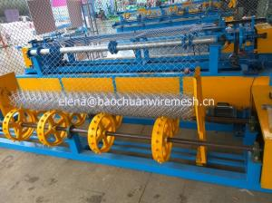 China Cheap High quality hot sale PLC  and  HDG wire single wire fully automatic chain link fence machine on sale