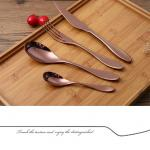 SS430 Polished Antibacterial 4pcs Antique 1810 Stainless Steel Flatware
