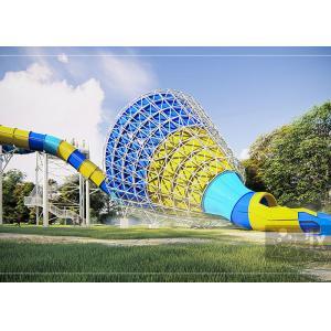 Medium Tornado Water Slide / Commercial Extreme Water Slides For Gigantic Aquatic Park