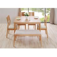 China Home Long Oak Kitchen Bench Seating , Natural Cherry Wood Dining Bench High Grade on sale