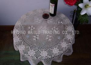 China Round Shape Dinner Knitted Table Cloth Dessin Caviar For Home Furniture on sale