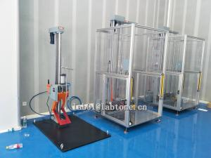 China Lab Drop Tester with 20mm Steel Base Max load 85kg Meet ISTA 1A 2A Standards on sale