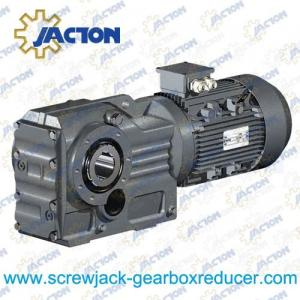 China 1.5HP 1.1KW K Series Helical bevel gear reducers, Helical bevel gear motor Specifications on sale
