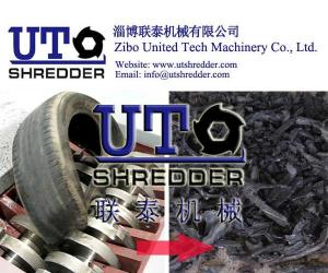 China Car/truck tyre crushing machine, waste tire shredder, double shaft shredder/used tyre recycling machine on sale