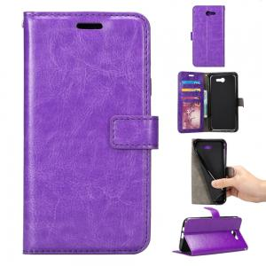 China Colorful Magnetic Samsung J3 Leather Case Handmade With Three Cards Slot on sale