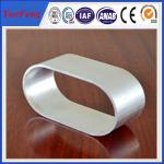 China Industrial use 6063 natural color Oval Aluminum Extrusion of anodizing wholesale