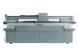 China Multi Color Flatbed Solvent Printer , Industrial Flatbed Printing Machine on sale