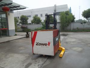 China 1.5 Ton Electric Straddle Lift Stacker with Wide Leg Width , Bale Clamp Attachment on sale
