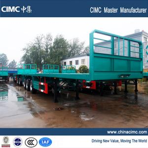 China 40ft flatbed trailer with 385/65R22.5 single tire for sale on sale