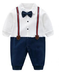China Infant  Baby Boy Gentleman Outfit Climbing Clothes Jumpsuit Kids Modelling on sale