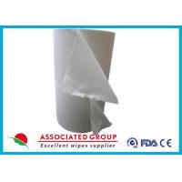 Spunlace Nonwoven Disposable Dry Washcloths 100 % Cotton No Pilling / Fuzzing