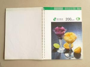 China A4 / B5 Full Color Custom Notebook Printing For Spiral Bound Notebook on sale